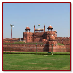 The red fort old delhi